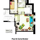 "Floorplan of the apt from ""Barefoot in the Park"" by Iñaki Aliste Lizarralde"