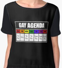 Gay Agenda Chiffon Top