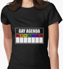 Gay Agenda (Blank) Women's Fitted T-Shirt