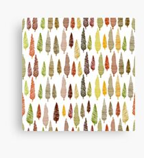 Seamless hand drawn vector pattern with different spruces Canvas Print