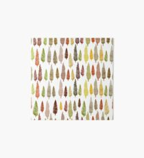 Seamless hand drawn vector pattern with different spruces Art Board