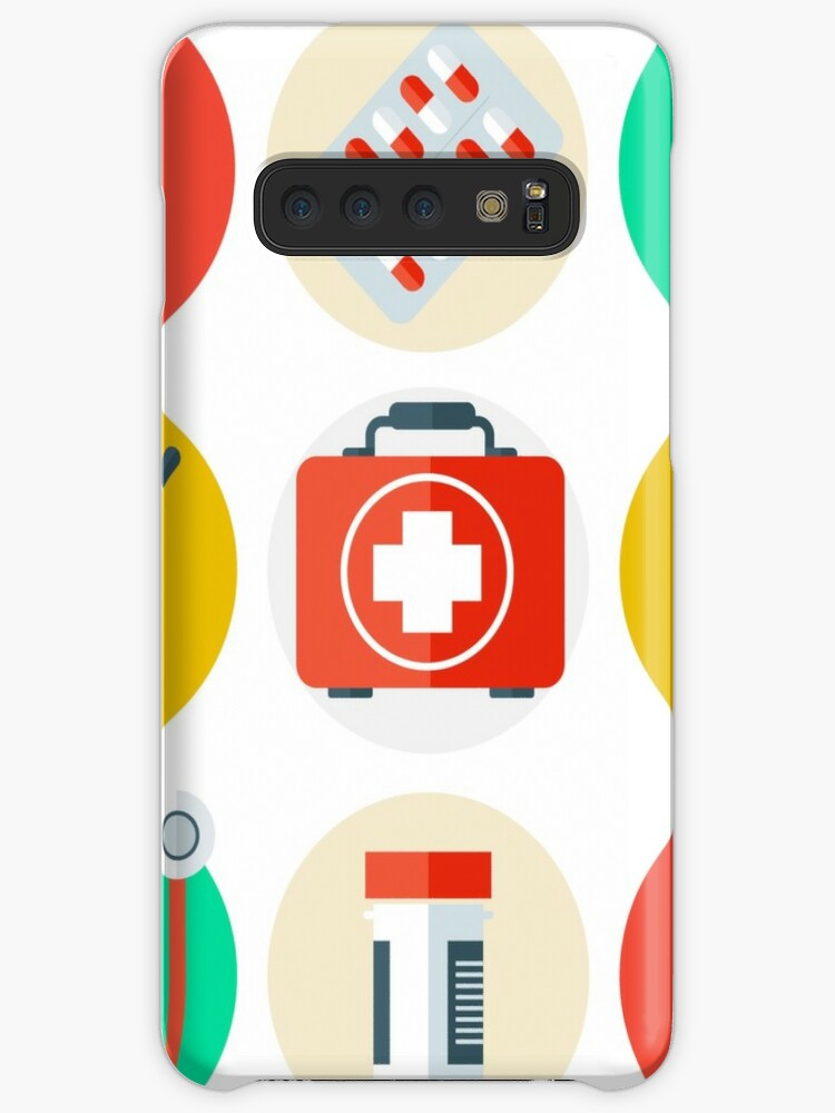 'Medical Tools Icons Set  Medical Background with Health Care Stuff  '  Case/Skin for Samsung Galaxy by ivector