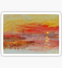 Favourite Artists - Turner Scarlet Sunset Sticker