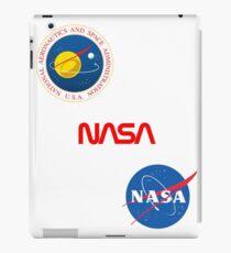 Three different official NASA logos iPad Case/Skin