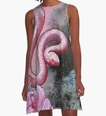 Snake A-Line Dress