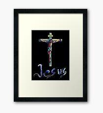 Jesus Christianity Religion Crucifiction Framed Print