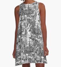 steampunk A-Line Dress