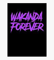 Wakanda Forever Purple - Black Panther Photographic Print