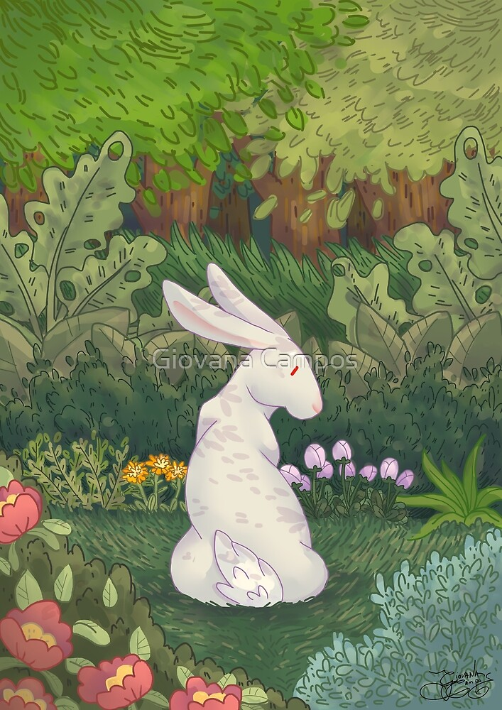 Bunny in the garden  by Giovana Campos