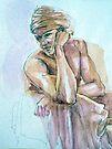 Pensive Boy in a Turban by Roz McQuillan