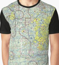 Chicago Sectional Aeronautical Chart Graphic T-Shirt