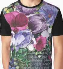 WATERCOLOUR ART FLOWER PAINTING  Graphic T-Shirt