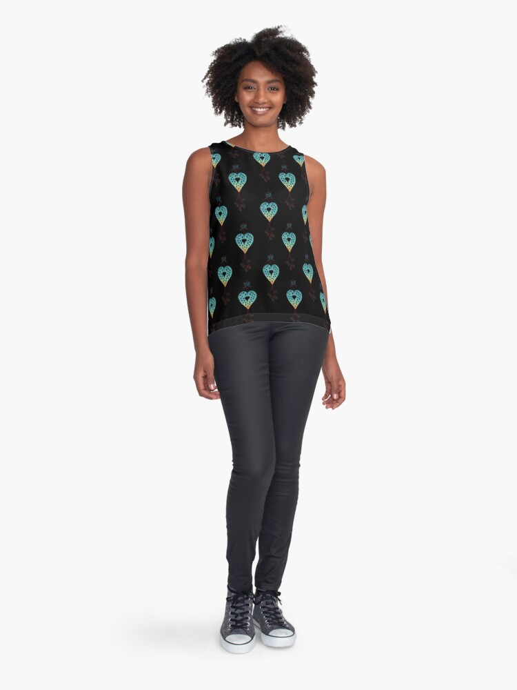 Alternate view of Floating Hearts Sleeveless Top