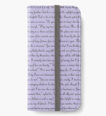Pride and Prejudice Text iPhone Wallet/Case/Skin