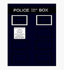 Time-traveling Police Call Box Photographic Print