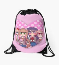DDLC Heart Drawstring Bag