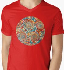 Book art: marbled endpapers – State Library Victoria V-Neck T-Shirt