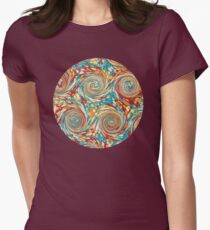 Book art: marbled endpapers – State Library Victoria Women's Fitted T-Shirt