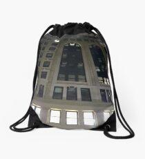 Subway station, New York, Brooklyn, Manhattan, New York City, Buildings, streets, trees Drawstring Bag