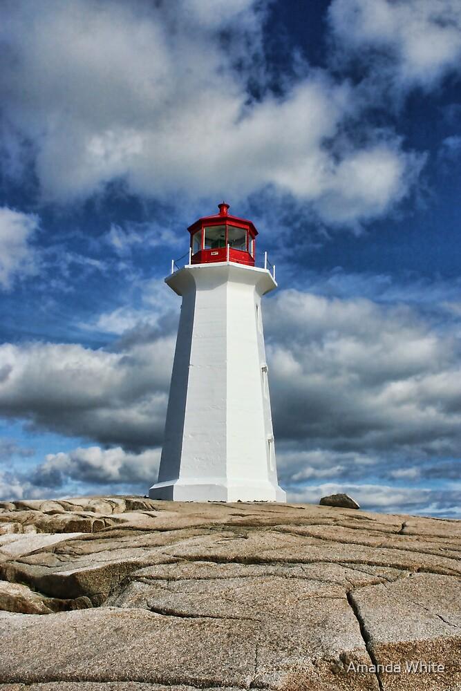 Peggy's Cove Lighthouse, Nova Scotia by Amanda White