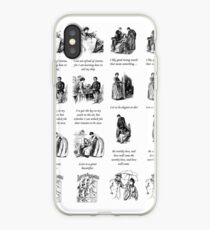 Little Women Quotes and Illustrations  iPhone Case