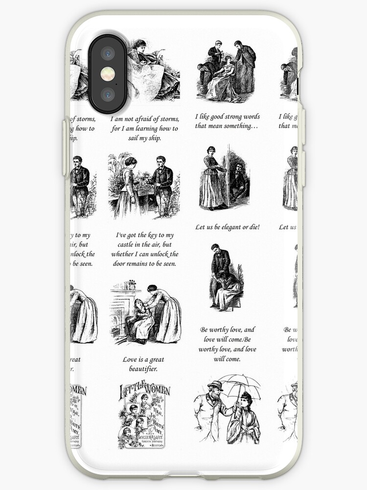 'Little Women Quotes and Illustrations ' iPhone Case by luv2right
