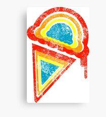 retro rainbow ice cream Canvas Print