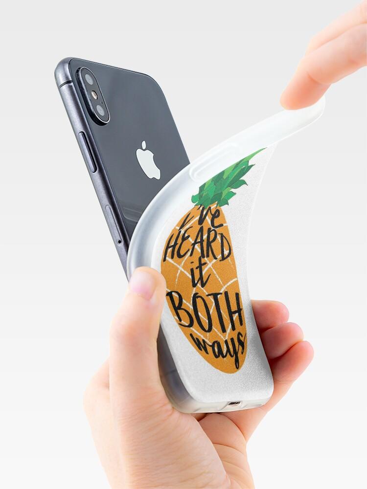 Vista alternativa de Funda y vinilo para iPhone Lo escuché en ambos sentidos