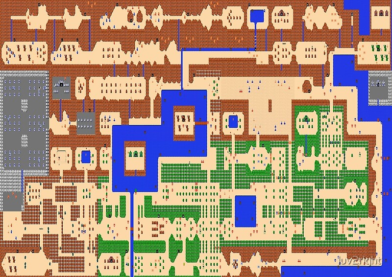 Legend of zelda overworld map posters by luv2right redbubble legend of zelda overworld map by luv2right gumiabroncs Images