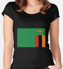 Sambia Tailliertes Rundhals-Shirt