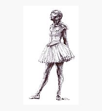 Little Dancer Ballpoint Pen Drawing Photographic Print