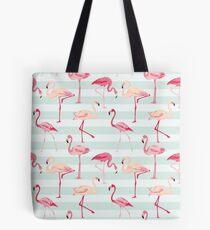 Flamingo Bird Retro Background Tote Bag