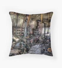 Belts and Pullies Throw Pillow