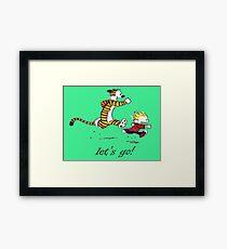 Calvin And Hobbes Run Framed Print