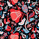 Seamless floral bright pattern by Tanor