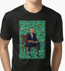 Barack Obama Portrait Tri-blend T-Shirt