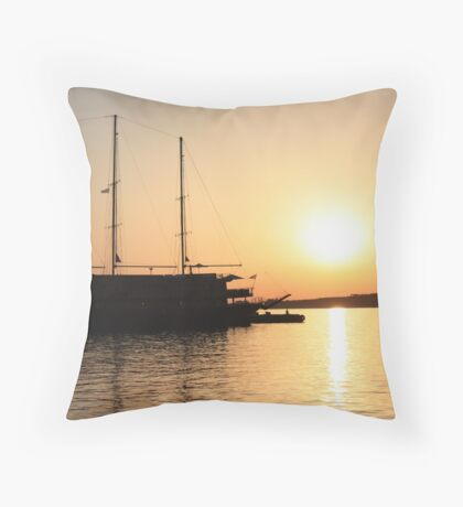 Nautical Sunset Dreams Throw Pillow