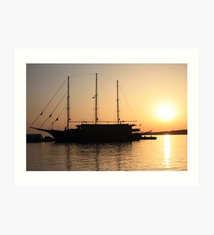 Nautical Sunset Dreams Art Print