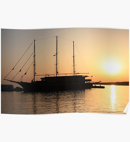 Nautical Sunset Dreams Poster