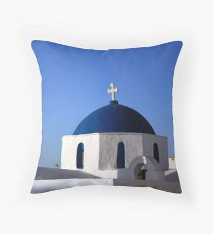 Chapels ~ with their blue domes and bell towers ~ Throw Pillow