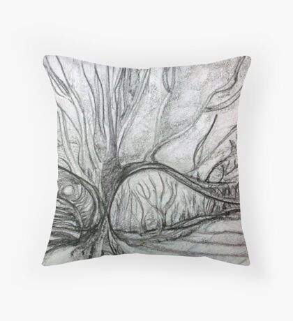 Winter's Last Light Throw Pillow