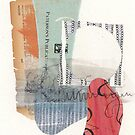 Circle Cut out mixed media collage by karlymichelle