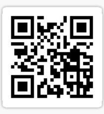Rickroll - QR Code Sticker