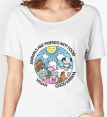 Friends not food. Love animals Women's Relaxed Fit T-Shirt