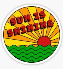 Bob Marley - Die Sonne scheint Sticker