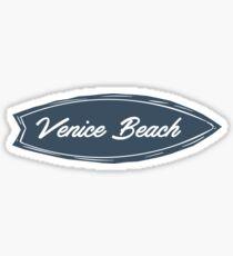 Venice Beach Surfboard Typography Sticker