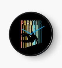 Parkour Retro Design Clock
