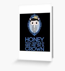 Crowned Moriarty Greeting Card