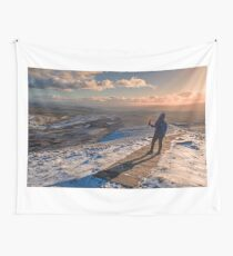 Winter on Pen-Y-Ghent Wall Tapestry