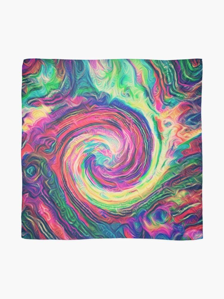 Alternate view of Swirl hook #Digital #Art Scarf